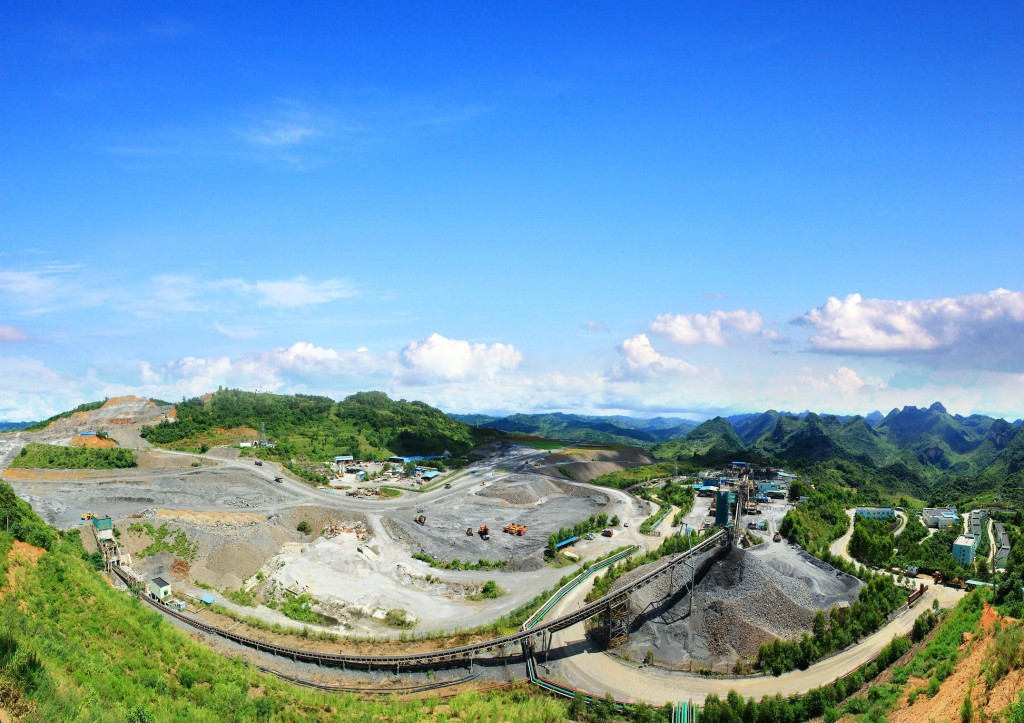 Jinfeng is an open pit and underground gold mine located in China's southern Guizhou Province. Credit: Eldorado Gold.