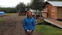 Kaminak Gold president and CEO Eira Thomas at the Coffee gold project, 130 km south of Dawson City, Yukon. Photo by Matthew Keevil.