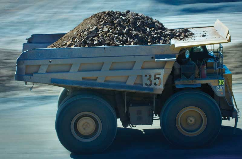 A loaded truck on the move at Glencore's George Fisher zinc mine, part of the company's Mt. Isa operations north Queensland, Australia.  Credit: Glencore.