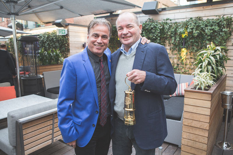 Stan Bharti (left), founder of Forbes & Manhattan, and Lukas Lundin, principal of the Lundin Group of Companies, at the Kasa Moto restaurant in Toronto on May 5, 2016. Photo by georgematthew.com.