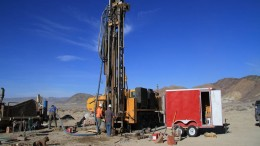 Drillers at work in Clayton Valley, Nevada. Credit: Pure Energy Minerals.