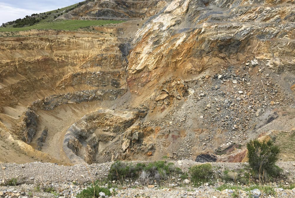 The past producing Black Pine gold mine, part of Pilot Gold's Mineral Gulch property in Idaho. Credit: Pilot Gold.