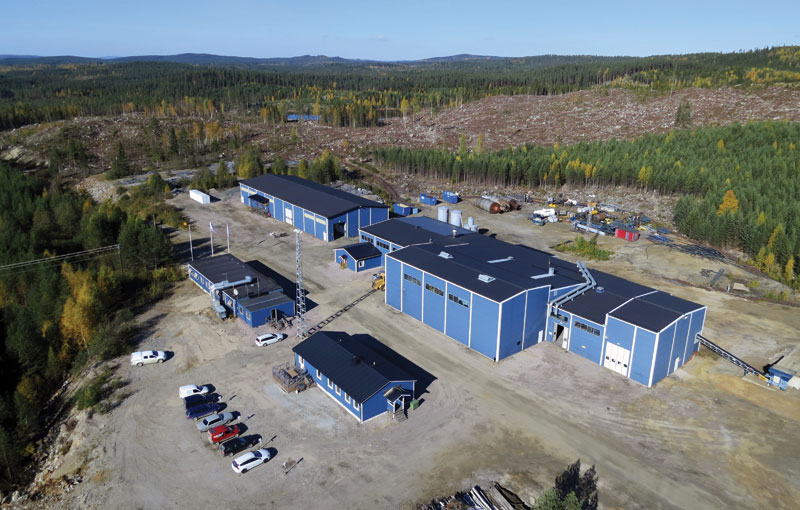 The processing plant at Flinders Resources' Woxna graphite mine in Sweden. Credit: Flinders Resources.