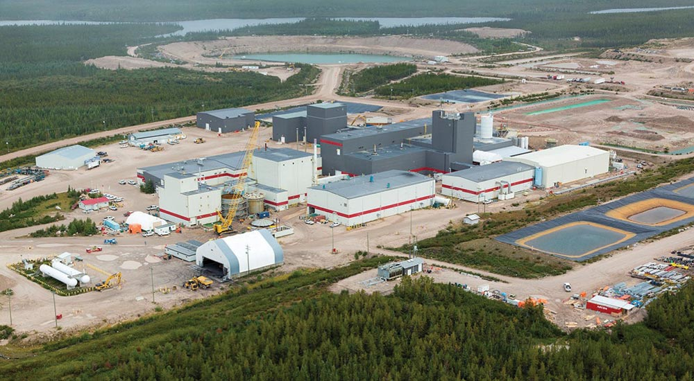 Areva, Denison Mines and OURD Co.'s McClean Lake uranium mill in northern Saskatchewan.  Credit: Denison Mines.