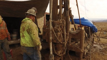 Drillers at Pure Energy Minerals' Clayton Valley lithium project in Nevada. Credit: Pure Energy Minerals.