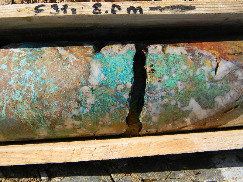 Drill core from the Bronze Fox exploration program. Credit: Kincora Copper.
