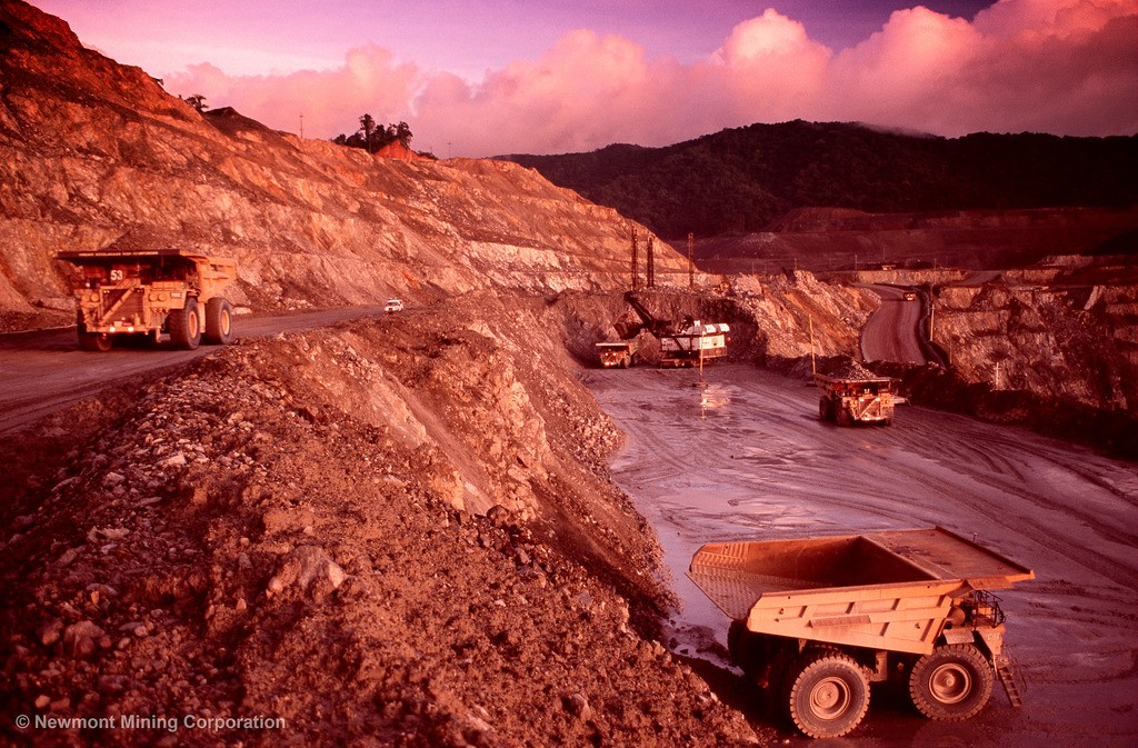 The Batu Hijau copper-gold mine in the southwest region of the island of Sumbawa, in the District of Sekongkang, West Nusa Tenggara Province, Indonesia. Credit: Newmont Mining.