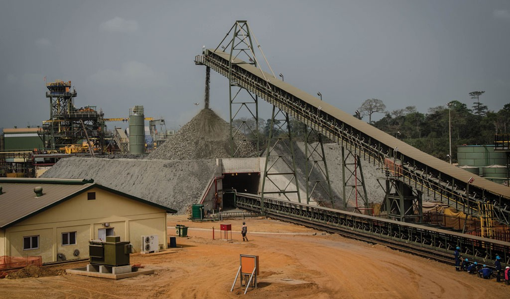 A stockpile at Asanko Gold's namesake flagship gold mine in Ghana's Ashanti region, 250 km northwest of the capital Accra. Credit: Asanko Gold.
