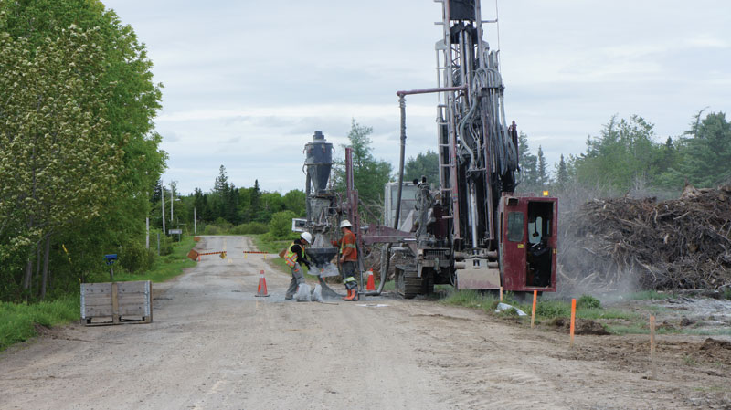 Drillers at the Touquoy gold project, part of Atlantic Gold's Moose River property in Nova Scotia. Credit: Atlantic Gold.