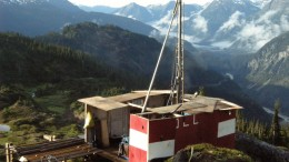 A drill site at Ascot Resources' Premier gold-silver project, 20 km northeast of Stewart in northwestern British Columbia. Credit: Ascot Resources.