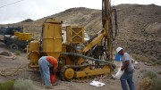 Drillers at Colombia Mines' Pamlico gold project in Nevada. Credit: Colombia Mines.
