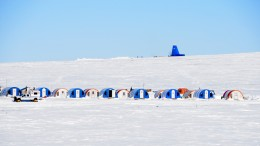 The Chidliak discovery camp in the winter of 2015. Credit. Peregrin Diamonds.