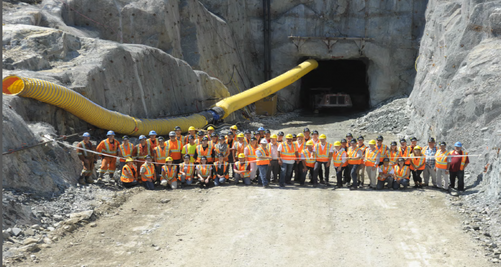 Integra Gold has begun development of a $26 million underground exploration ramp at its Triangle deposit. The company plans to use the drive for definition drilling and bulk sampling of the deposit's C1 and C2 shear zones. Credit: Integra Gold.
