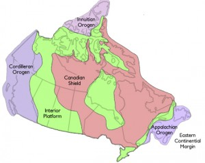 The Appalachian Orogen relative to the other geological regions of Canada. Credit: The Canadian Encyclopedia.