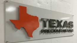 Logo of the precious metals trading firm Texas Precious Metals. Credit: Texas Precious Metals.