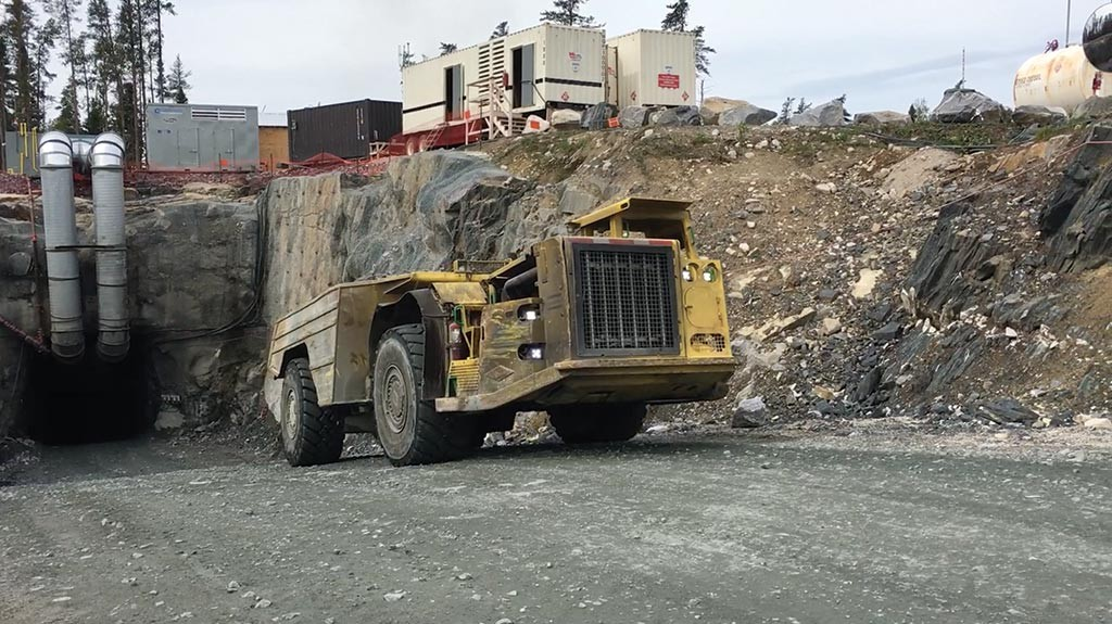 A 20-tonne truck exits a portal at Harte Gold's Sugar gold project in Northern Ontario.  Credit: Harte Gold.