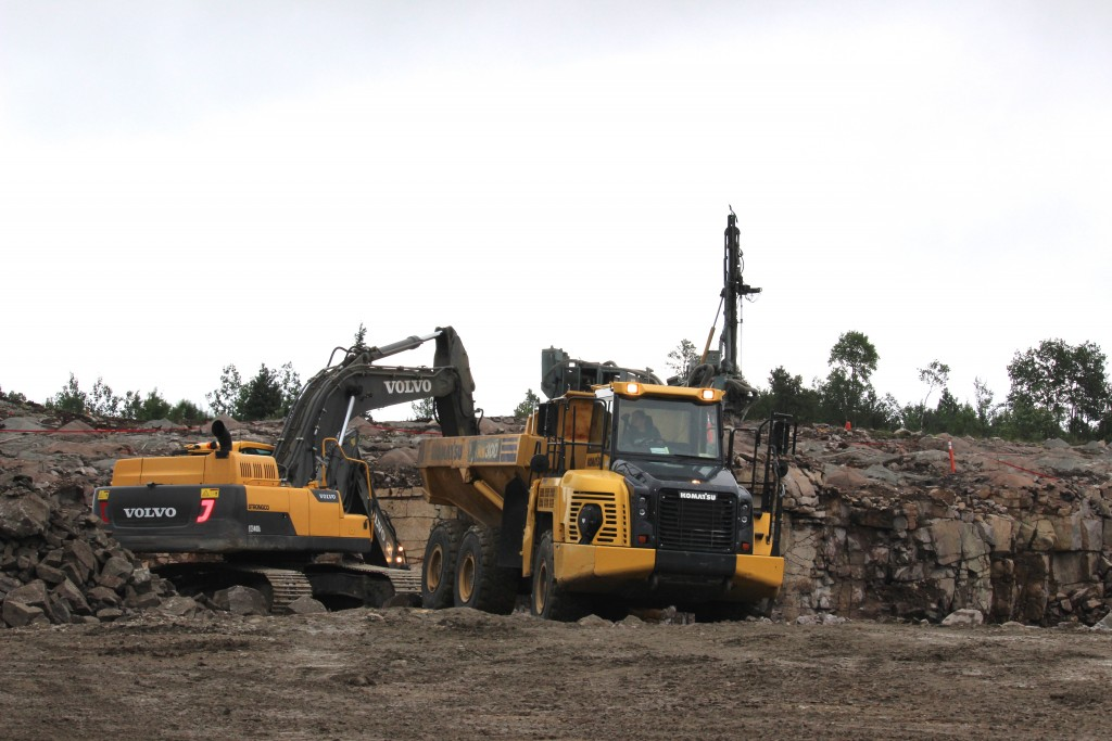 Construction at New Gold's Rainy River project in northwestern Ontario. Credit: New Gold.