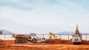 Construction at Ivanhoe Mines' Platreef project in South Africa. Credit: Ivanhoe Mines.