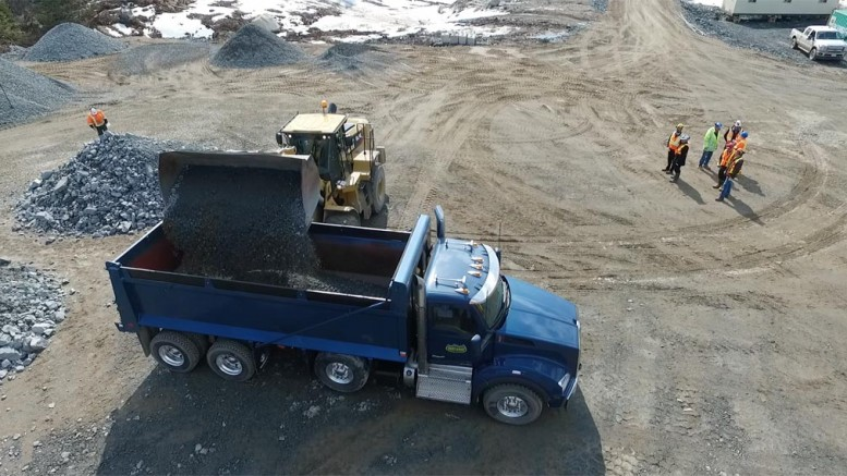 Loading up a dump truck at Harte Gold's Sugar project in northern Ontario. Credit: Harte Gold.