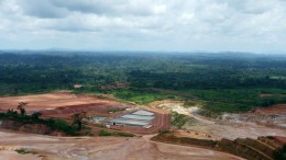 A view overlooking Endeavour Mining's heap leach operation at its Ity gold mine in Cote d'Ivoire. Credit: Endeavour Mining.