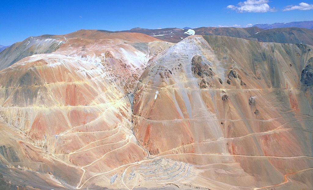 Barrick Gold's Pascua-Lama gold property straddling the Chile-Argentina border, as seen in 2009. Credit: Barrick Gold.