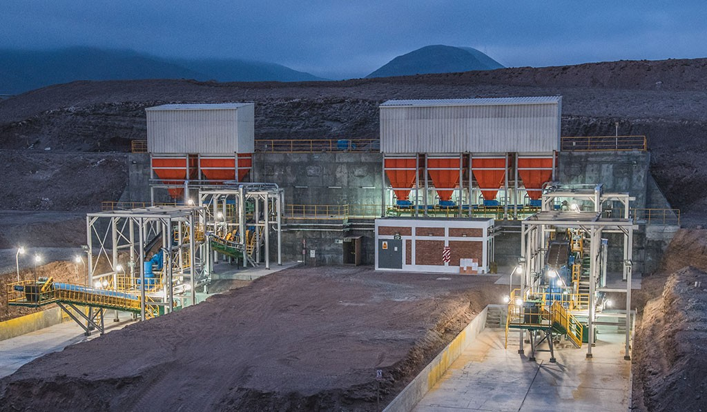 Dynacor Gold Mines' Chala gold processing plant in Peru, 600 km south of Lima, which treats ore extracted by local miners. Credit: Dynacor Gold Mines.