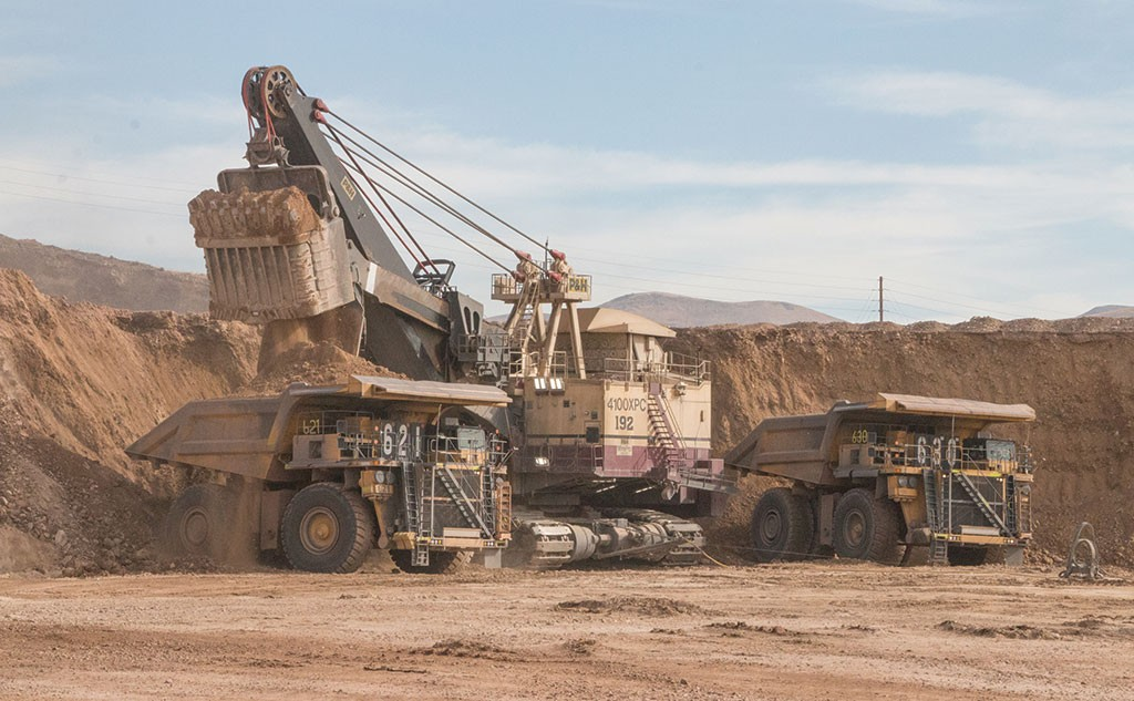 A shovel loads a haul truck at Premier Gold Mines and Barrick Gold's South Arturo gold mine in Nevada. Credit: Premier Gold Mines.