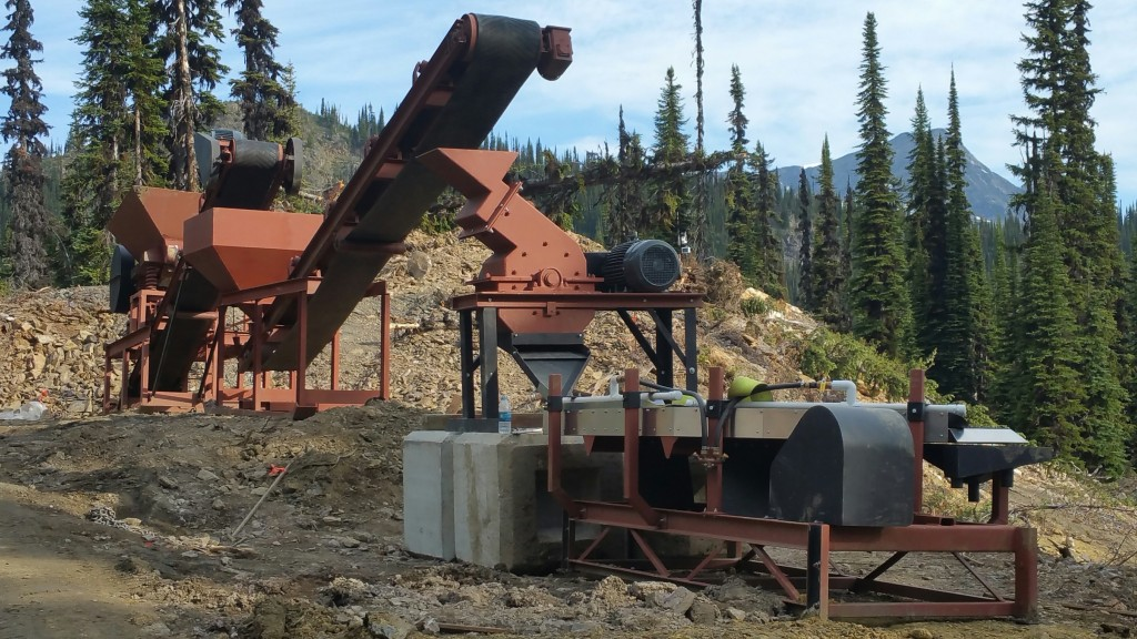 Metallurgical test mill to process gold from Taranis Resources SIF gold zone at its Thor property in B.C. Credit: Taranis Resources.