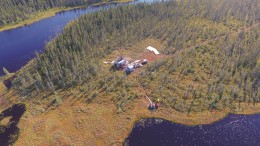 A drill site at Noront Resources' AT5 target at the company's Eagle's Nest nickel-copper-PGM project in northern Ontario's Ring of Fire region. Credit: Noront Resources.