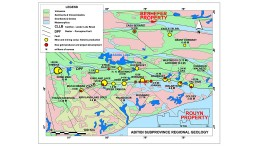A map showing the Rouyn property in the context of the wider Abitibi region. Credit: Yorbeau Resources.