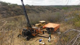 A drill site at Crusader Resources' Borborema gold project in northeastern Brazil. Credit: Crusader Resources.