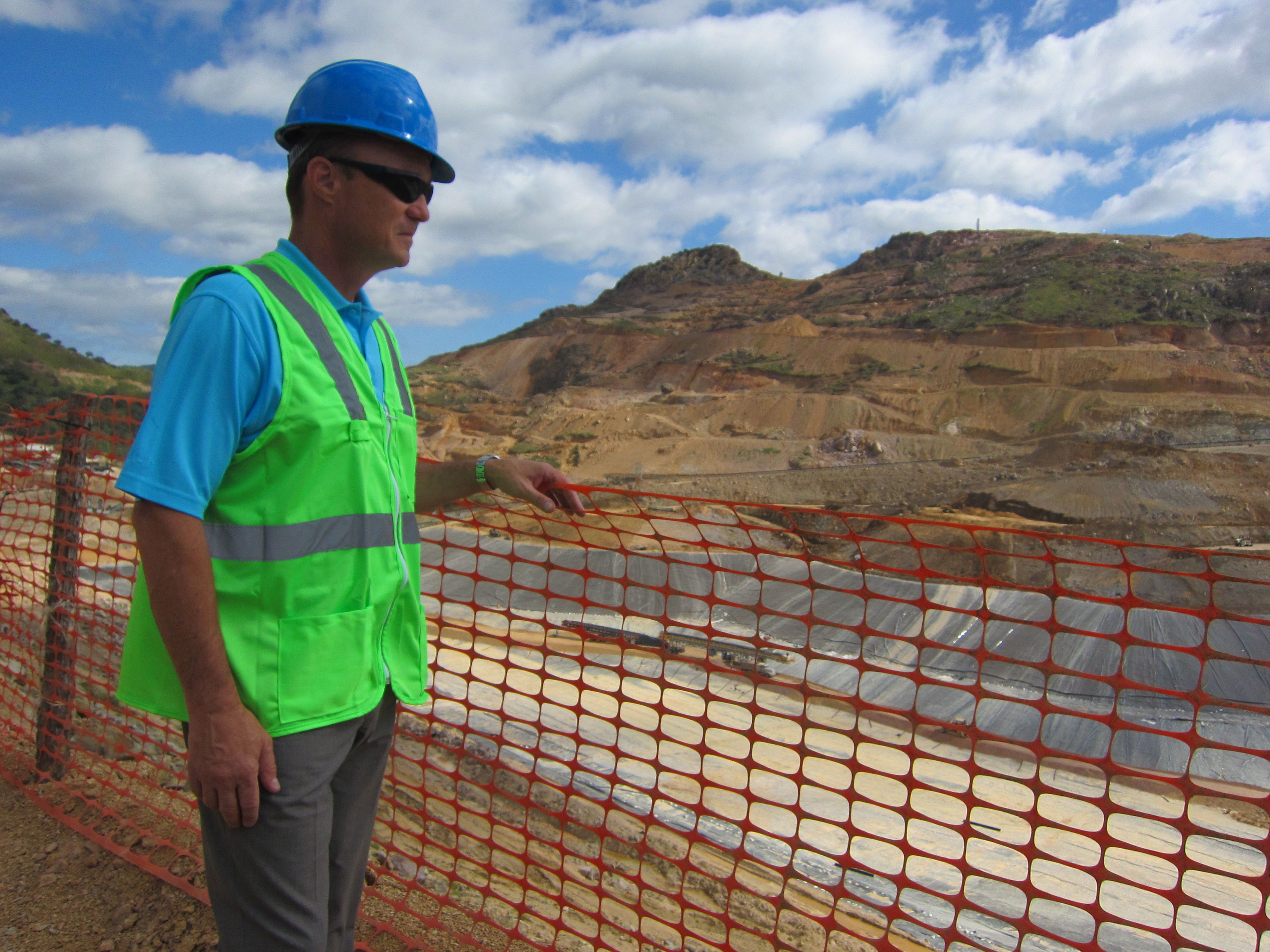 Agnico Eagle Mines CEO Sean Boyd checks out the heap-leach pad at the La India gold mine in Sonora, Mexico, in mid-2013. Photo by Salma Tarikh.
