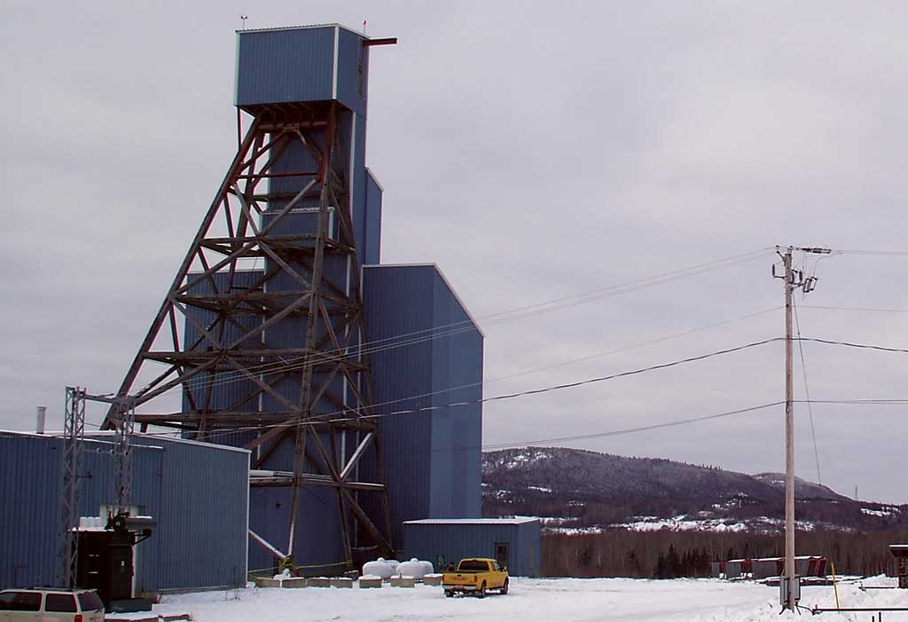 The Augmitto headframe on Yorbeau Resources' Rouyn gold property, 4 km south of Rouyn-Noranda, Quebec. Credit: Yorbeau Resources.