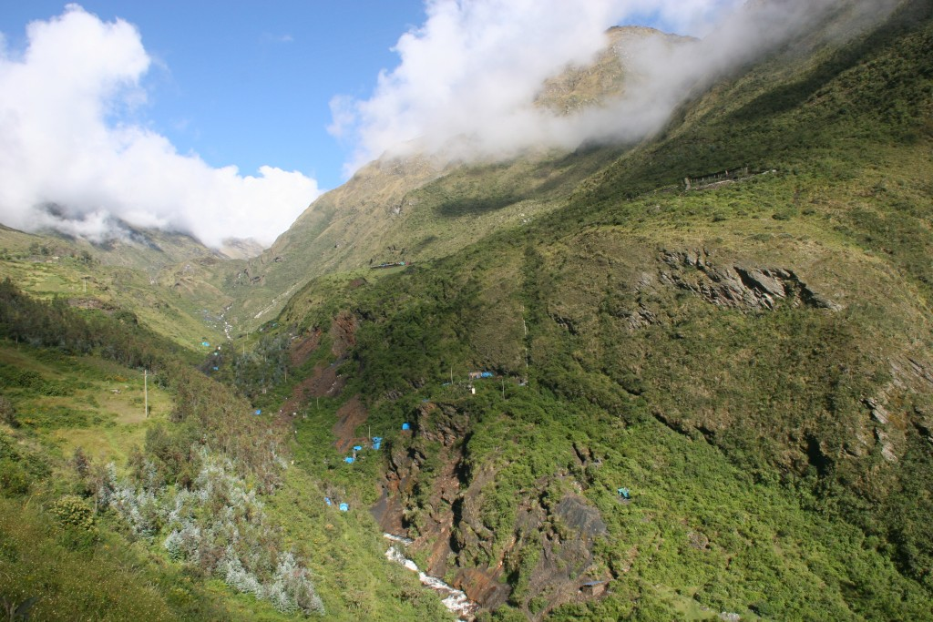 A photo from 2010 of the Minapampa section of Minera IRL's Ollachea gold project in Peru. Credit: MInera IRL.