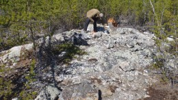 Working at 92 Resources Corp.'s Hidden Lake lithium project in the Northwest Territories. Credit: 92 Resources Corp.