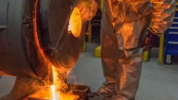 A silver pour at Silver Standard's Marigold mine in Nevada. Credit: Silver Standard Resources.