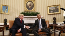 U.S. President-Elect Donald Trump meeting U.S President Barack Obama in the White House in Washington, D.C., on Nov. 10, 2016. Credit: AP.