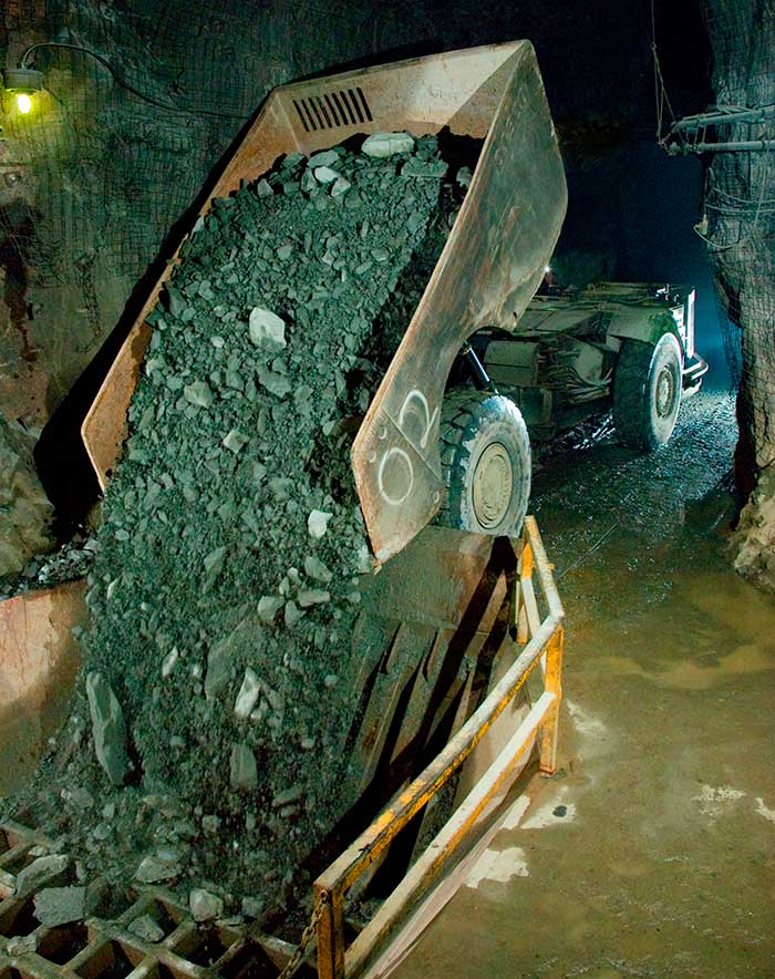 Underground at Wesdome Gold Mines' Eagle River mine, 60 km southeast of Hemlo and 50 km due west of Wawa, Ontario. Credit: Wesdome Gold Mines.