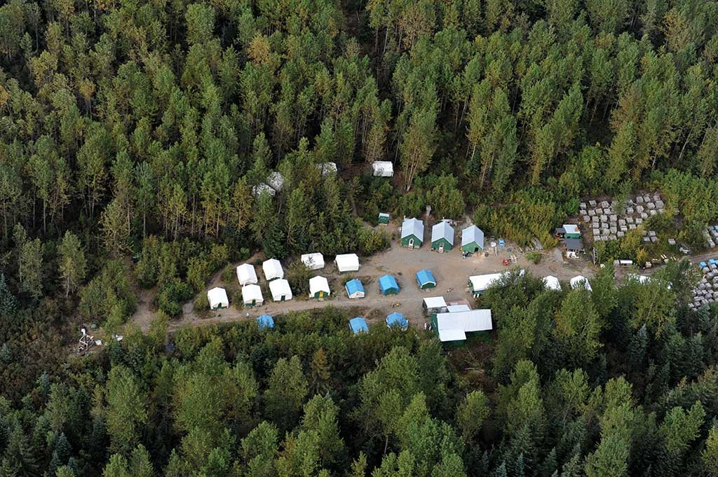Camp facilities at Seabridge Gold's KSM copper-gold project in northwest British Columbia, where Tahltan Nation Development Corp. provides camp and catering services. Credit: Seabridge Gold.