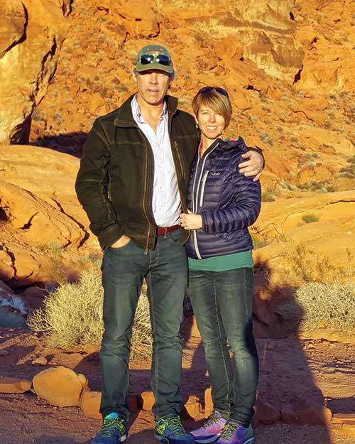 Prospector Shawn Ryan and his wife and business partner Cathy Wood in the Valley of Fire State Park, near Las Vegas, Nevada. Photo courtesy Shawn Ryan.
