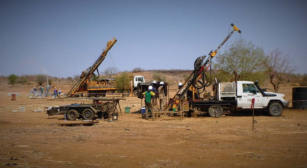 Drillers at West African Resources' Tanlouka gold project in Burkina Faso.  Credit: West African Resources.