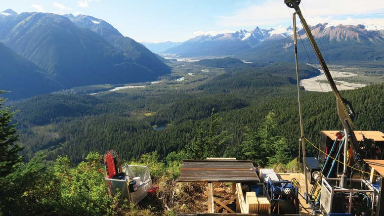 Looking west towards the Craig River at the Twin West and Jim claims at Skeena Resources' Snip gold property in northwest British Columbia. Photo by Ron Nichols.