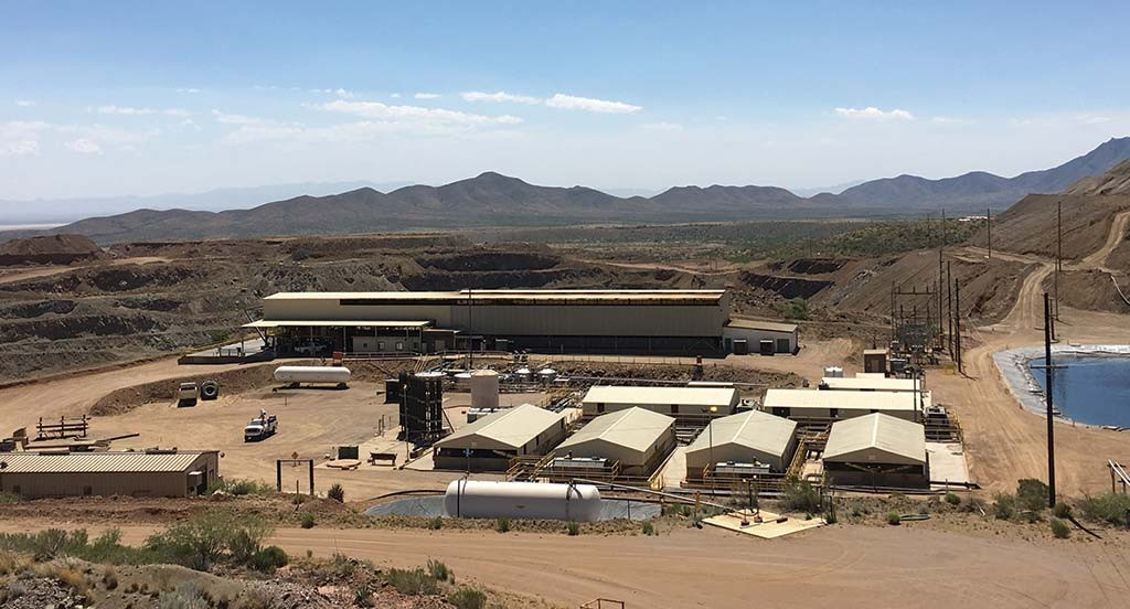 Excelsior Mining's Johnson Camp mine project in Cochise County, Arizona, which the firm bought from Nord Resources in December 2015. Credit: Excelsior Mining.