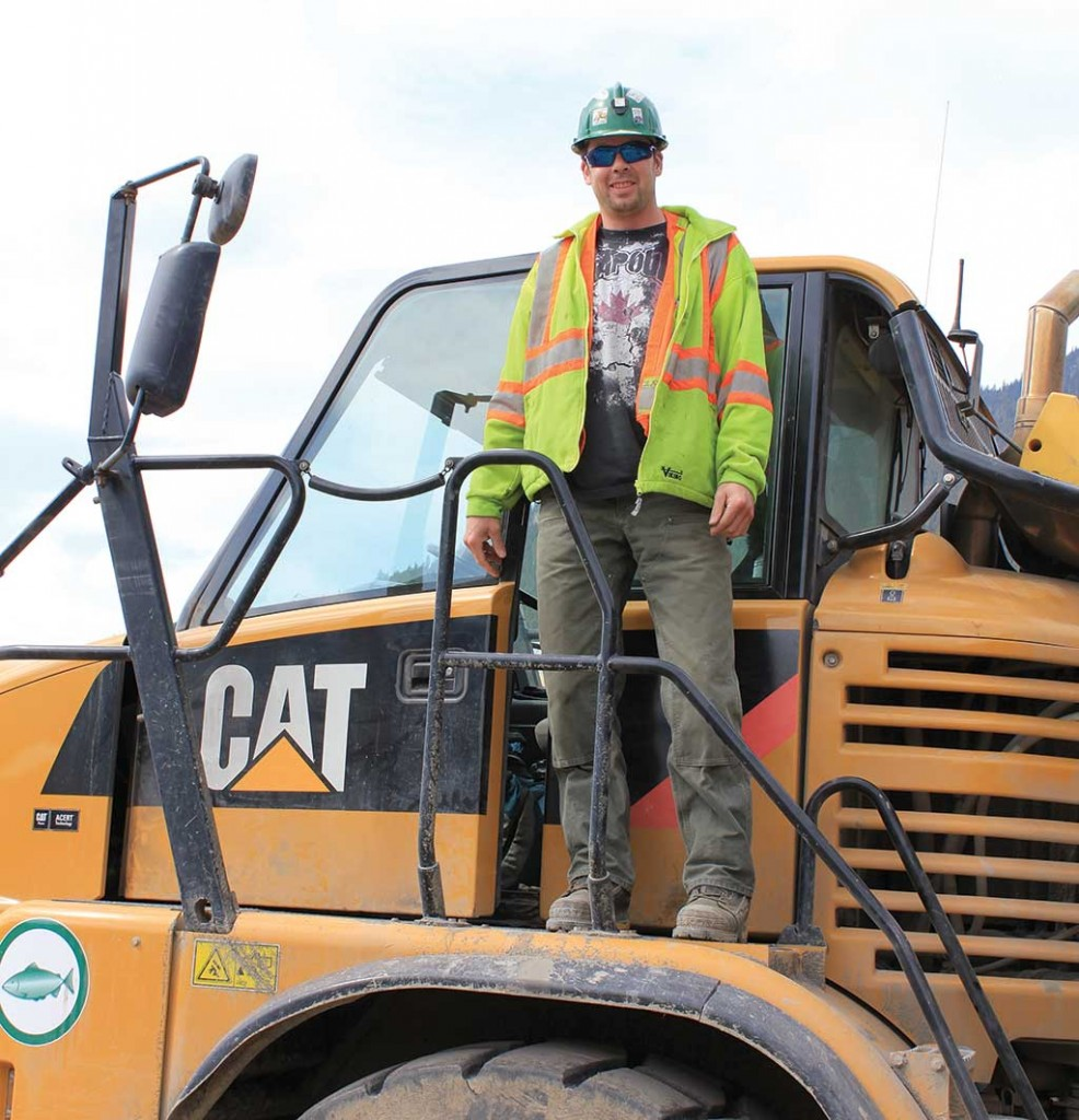 A TNDC employee who worked on an AltaGas hydroelectric project in northwest British Columbia. Credit: TNDC.