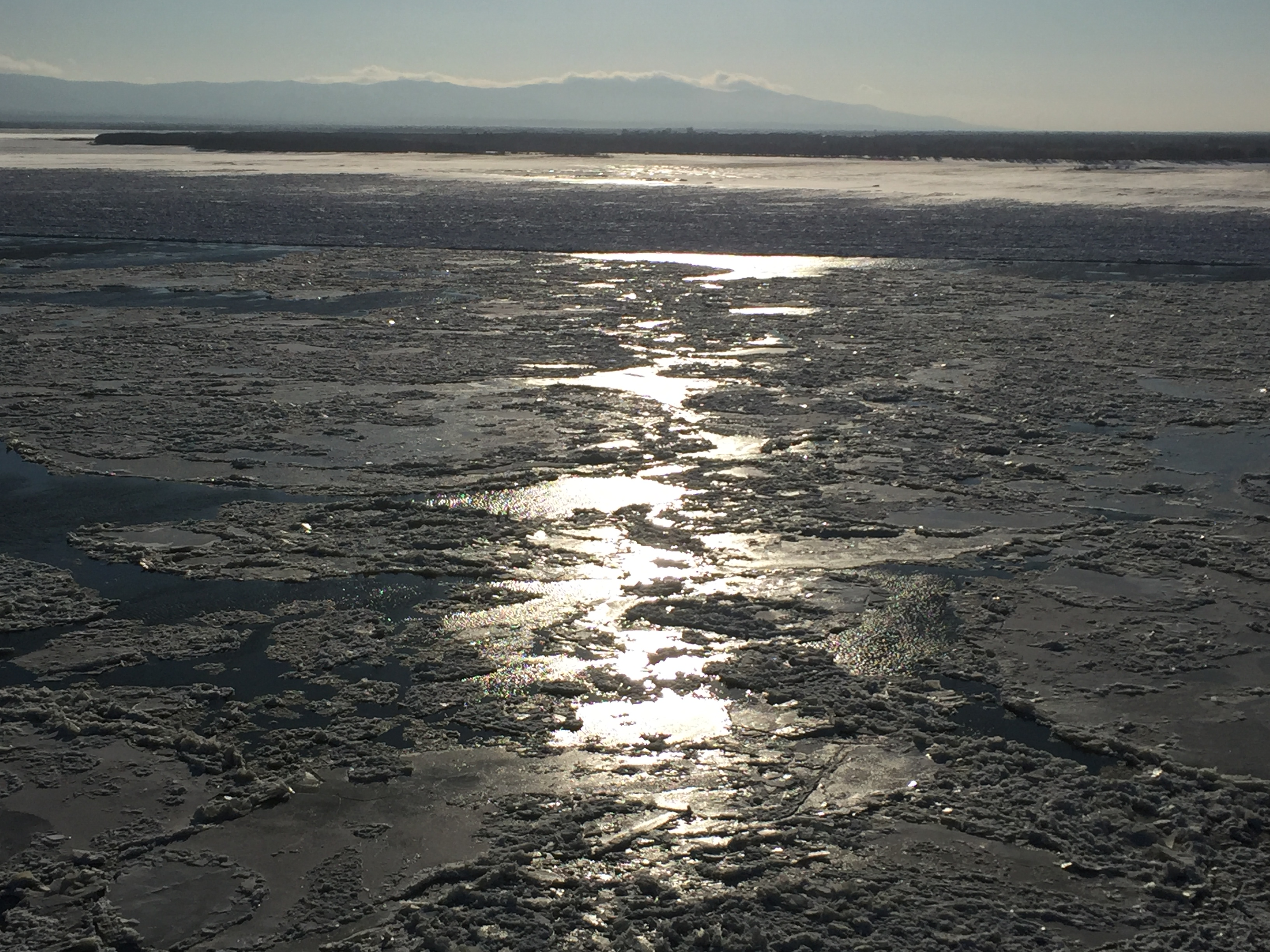 A shot of the Amur River from the city of Khabarovsk, in Far East Russia.