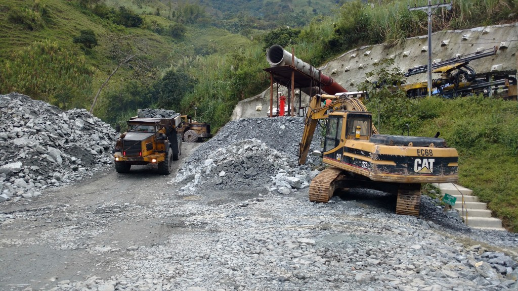 Hauling out rock from the mine portal at the Guaico deposit at Antioquia Gold's Cisneros gold project near Cisneros in Colombia's Antioquia Department. Photo by John Cumming.