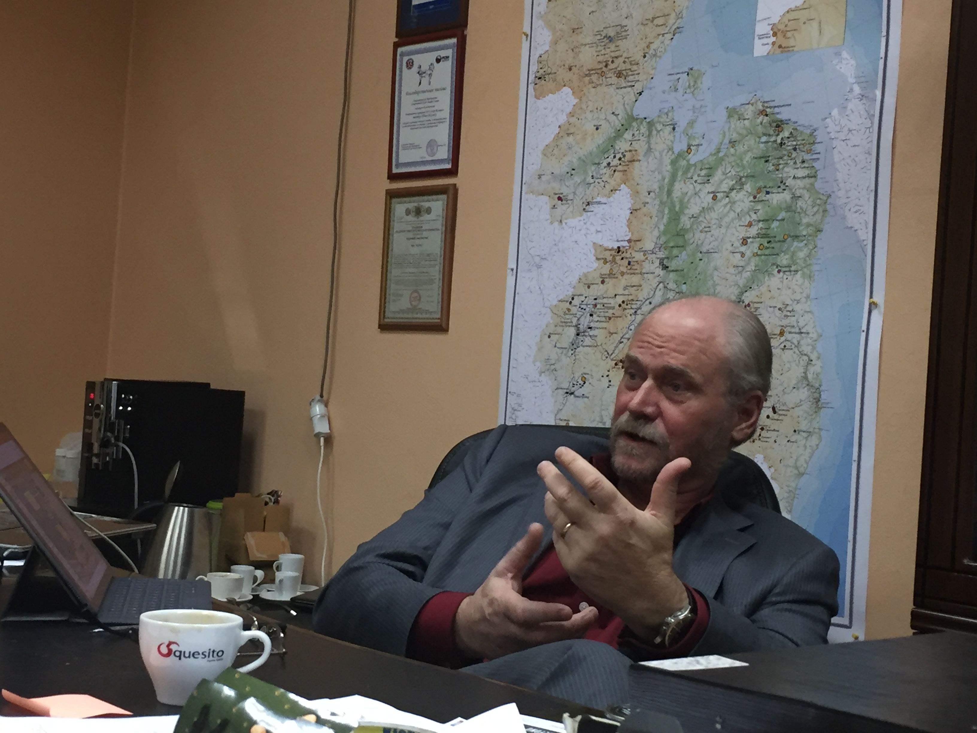 IG Copper's Tom Bowens at his office in Khabarovsk.
