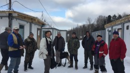 IGC's crew and visitors at the Malmyzh copper-gold project in Far East Russia. Photo by Salma Tarikh.
