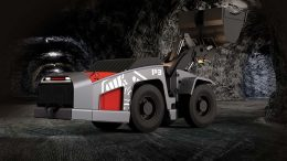 Artisan Vehicle Systems model 153, a battery-powered, 1.5-yard, 3-tonne load-haul-dump underground mining vehicle. Credit: Artisan Vehicle Systems.