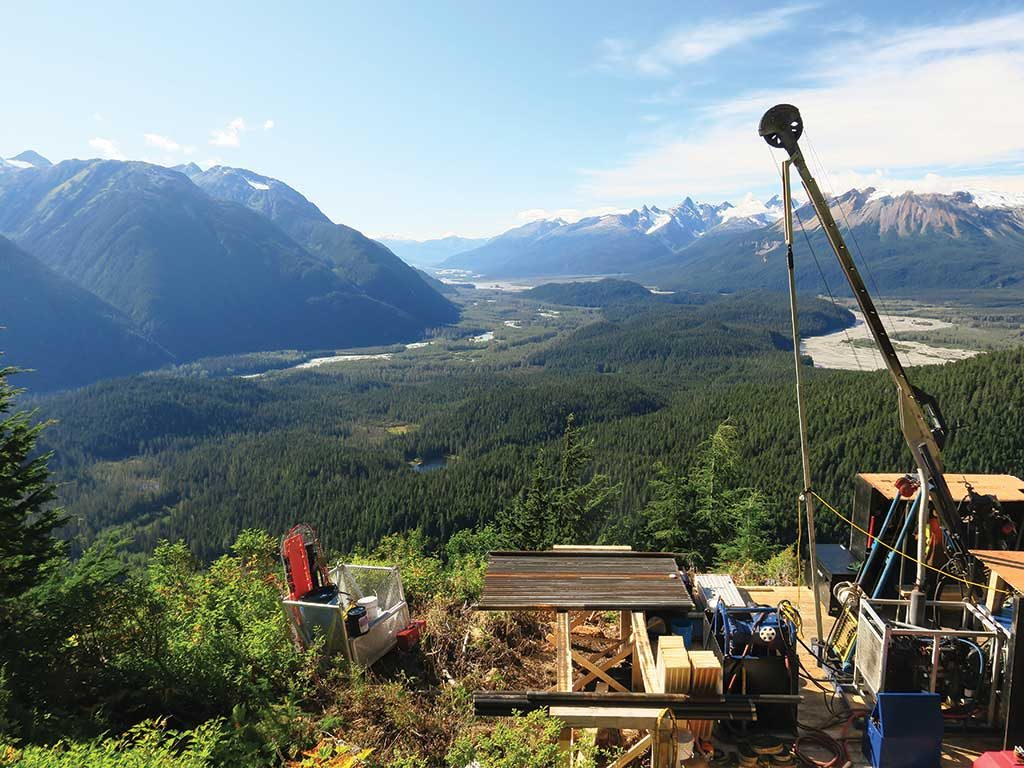 Looking west from Skeena Resources' Snip gold property in northwest British Columbia. Photo by Ron Nichols.